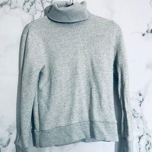 J.Crew Turtleneck Sweatshirt Gray Heather Womens